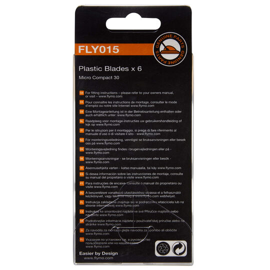 Plastic Lawnmower Blades FLY015 image number null
